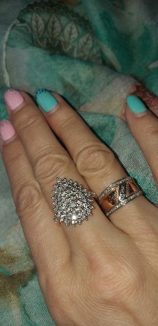 Кольцо капля с бриллиантами