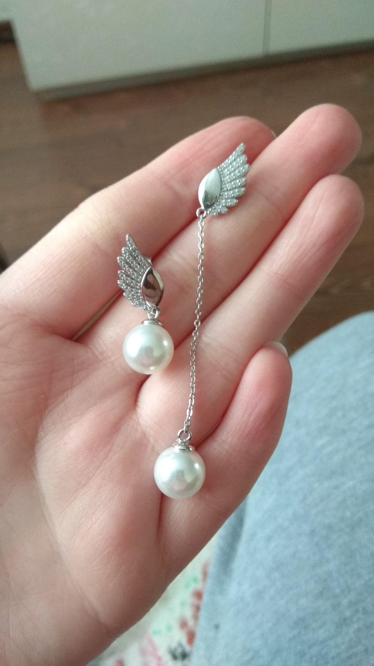 Супер стильные сережки с крыльями ангела)))))