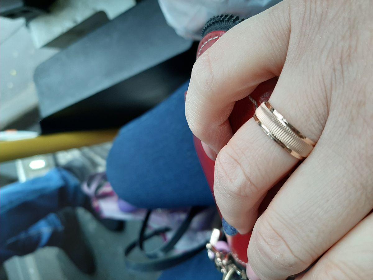 """Обручальное кольцо """"Кошачий глаз"""""""