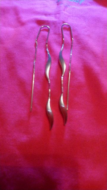 Прелестные сияющие сережки!