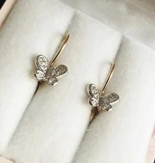 Сережки бабочки) для маленькой принцессы