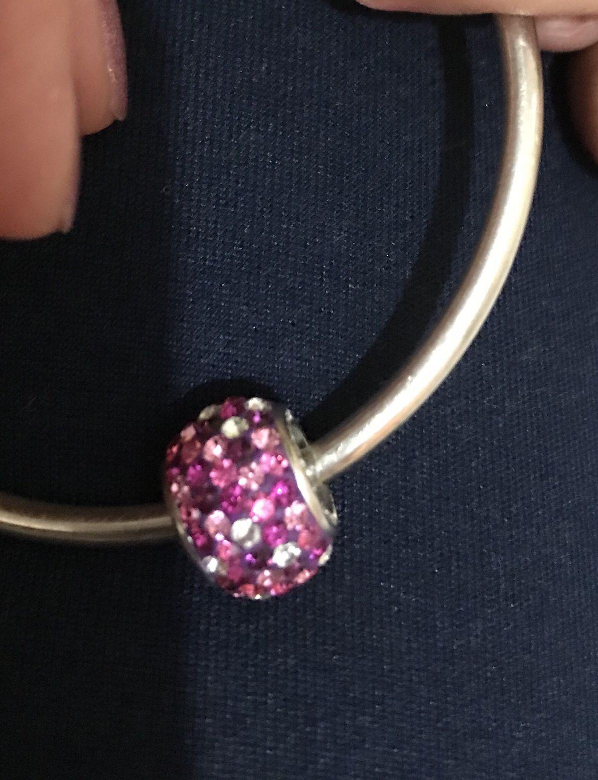 Шарм с кристалами pink