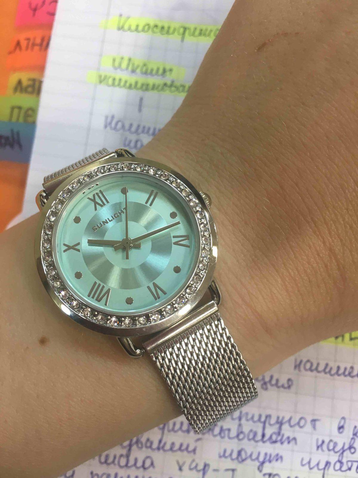 Часы с кристаллами(березовые)